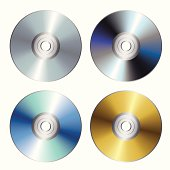 Blue-ray, DVD, CD or disc. Vector illustration