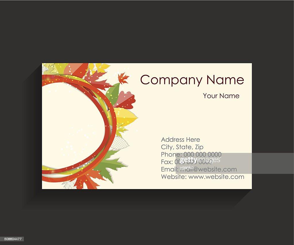 Negocios de la compañía de la tarjeta de ilustración vectorial : Arte vectorial