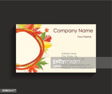 Ilustração vetorial de Cartão de Negócios da Empresa : Arte vetorial
