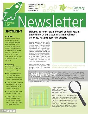 Entreprise conception flyer template vert newsletter for Flyer espace vert