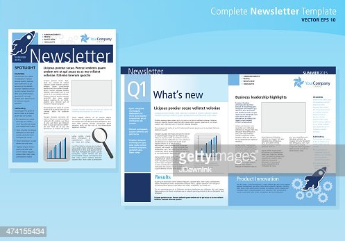 Company Business Newsletter Cover And Inside Layout Design Flyer