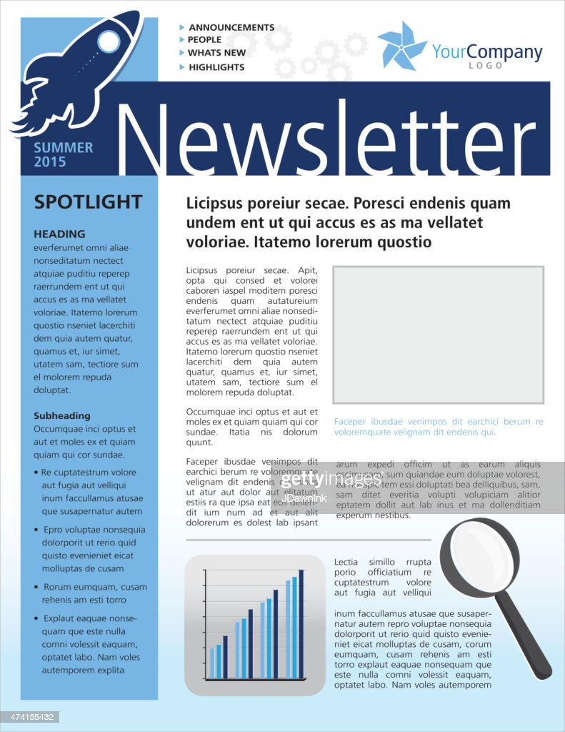 Company Business Newsletter Cover And Inside Layout Design Flyer – Company Newsletter