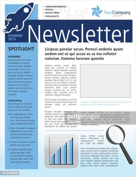 Company Green Business Newsletter Cover And Inside Layout Design – Sample Business Newsletter