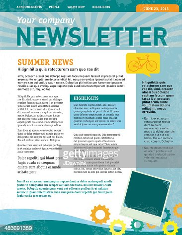 Company Newsletter Design Template Vector Art | Getty Images
