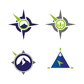 A set of compass icons