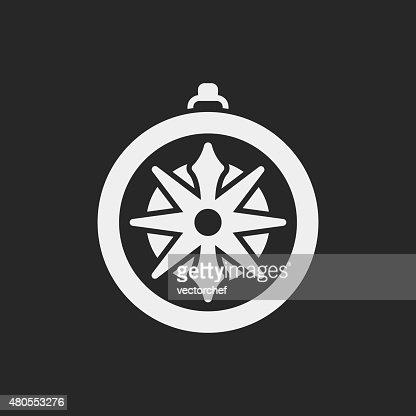 Brújula icono de : Arte vectorial