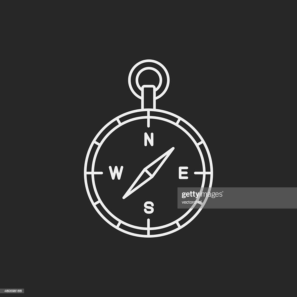 compass line icon : Vector Art