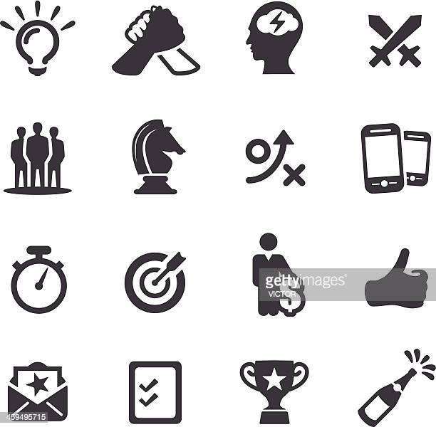 Wettbewerb und Match-Icons-Acme Series