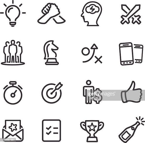 Wettbewerb und Spiel Symbole-Line Serie