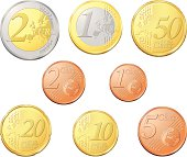 Complete euro coins
