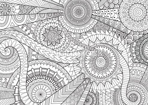 Complesso mandala movimento design per adulto libro da - Tappeto mandala ...
