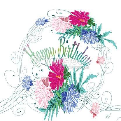 Composición De La Inscripción Y Flores De Coloración Fina En Aster ...