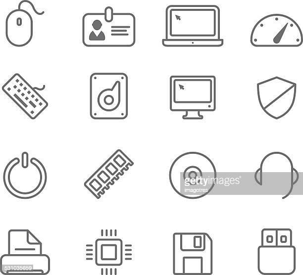 Équipement informatique-icônes simples