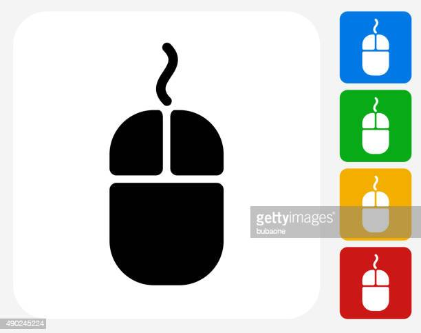Computer Mouse Icon Flat Graphic Design