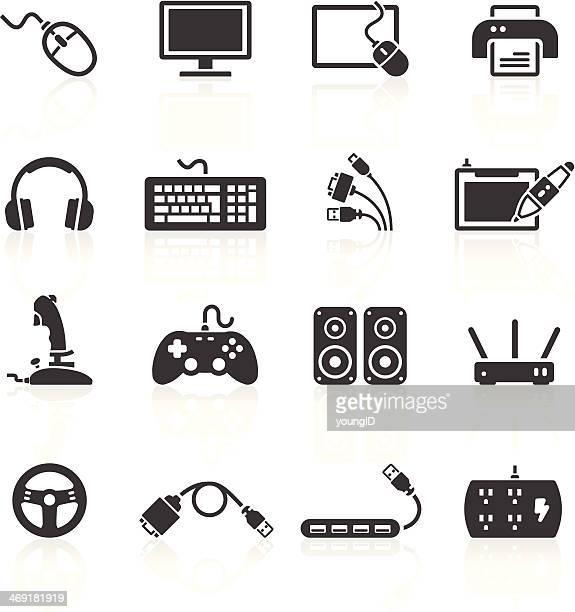 Icônes de périphériques d'ordinateur