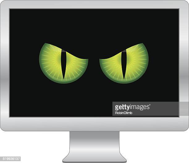 Virus informático ojos
