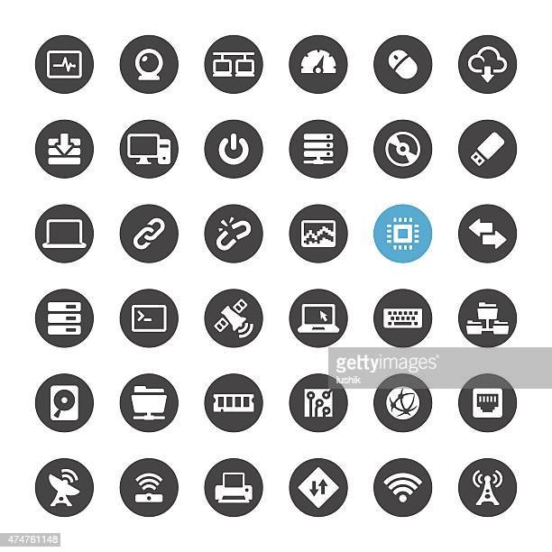 Computers and Wireless vector icons