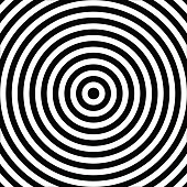 Concentric abstract circle pattern. Black and white graphics. Vector.