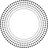 Concentric Circles . Dots in Circular Form . Vector.