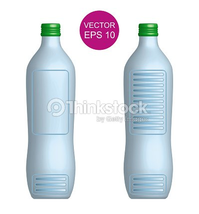 Concept Bottle Template 3D Vector Illustration EPS10