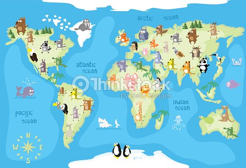 Concept design world map with animals of all the continents vector concept design world map with animals of all the continents vector art gumiabroncs Images
