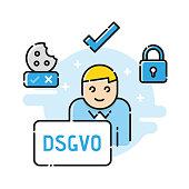 General Data Protection Regulation. DSGVO, GDPR, RGPD.