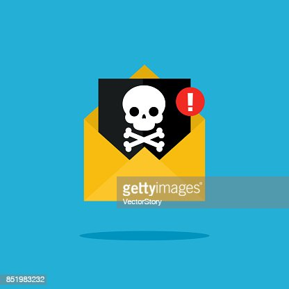 Concept of virus, piracy, hacking and security. : stock vector