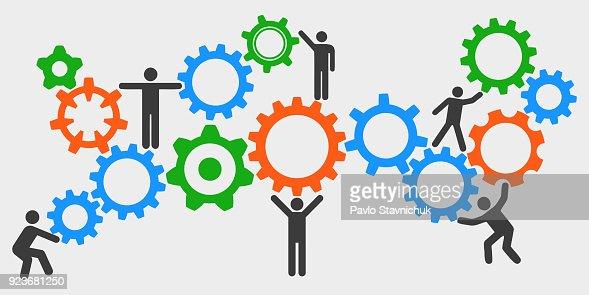 Concept teamwork, staff, partnership - for stock : stock vector