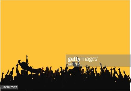 Concert Crowd Vector Art | Getty Images