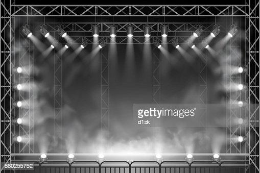 Concert scene : stock vector