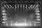 Concert scene in vector