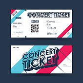 Concert ticket Card. Element template for design. Vector illustration.