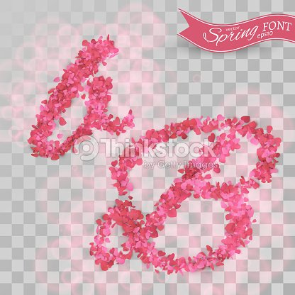 Confetti Font Scattered Paper Hearts stock vector | Thinkstock