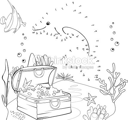 Relier les points et de couleur clipart vectoriel thinkstock for Disegni coralli marini