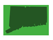 vector illustration of Connecticut map