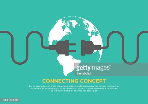 Connection concept flat design vector illustration : stock vector