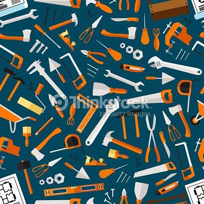 Construction And Repair Tools Seamless Wallpaper Clipart Vectoriel