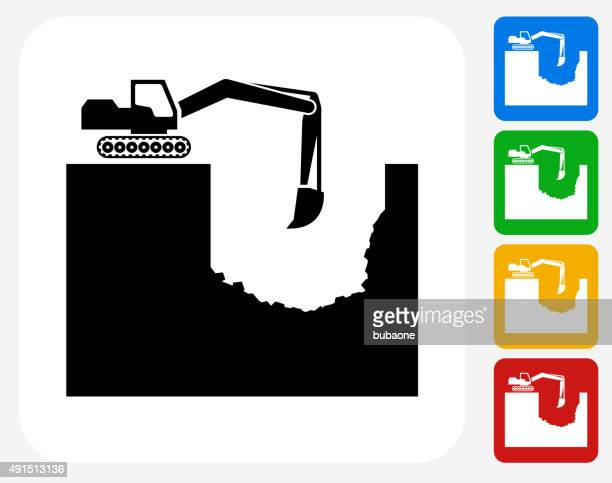 Construction Building Icon Flat Graphic Design
