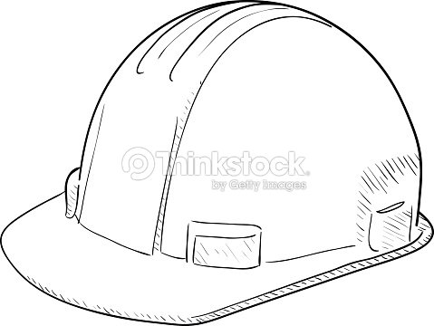Construction Hard Hat Drawing Vector Art