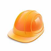 Construction helmet on a white background. Vector illustration