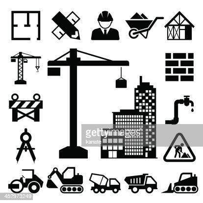 construction icons set vector art thinkstock