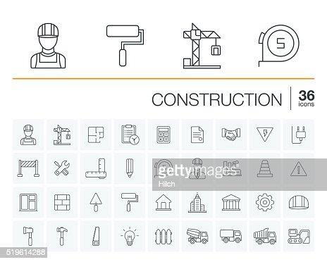 Konstruktion und Industrie-Vektor-icons : Vektorgrafik