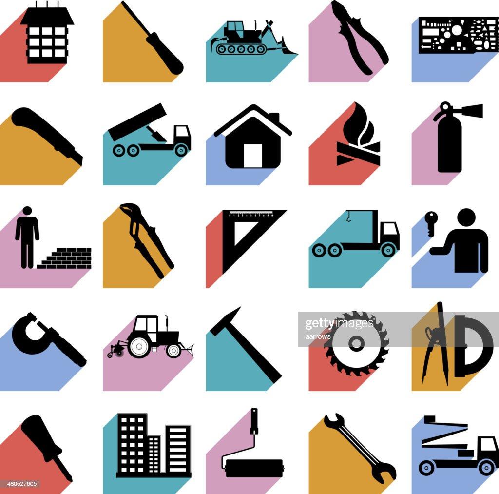 Construction symbols. : Vector Art