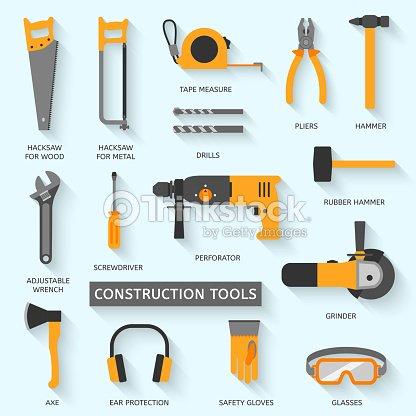 Construction Tools Vector Icons Set Vector Art Thinkstock