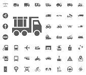 Construction truck. Transport and Logistics set icons. Transportation set icons.
