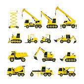 Side View, Heavy Equipment, Machinery, Engineering
