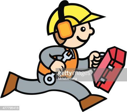 Bauarbeiter bei der arbeit comic  Bauarbeiter Vektorgrafik | Thinkstock