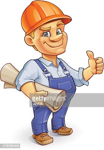 Construction Worker : Vector Art