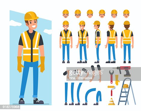 construction worker : stock vector