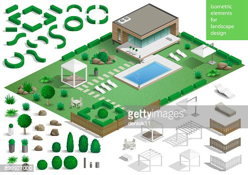 Constructor for the surrounding area : stock vector